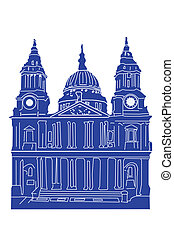 Drawing of St Pauls Cathedral London