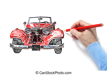 Drawing of the automobile