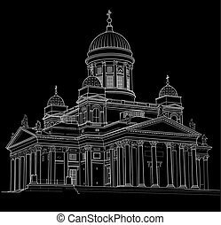 Drawing of the Cathedral