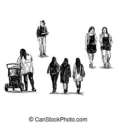 Drawing of the people