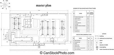 Drawing of vehicle fleet. Vector format