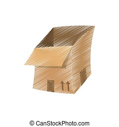 drawing open delivery box design
