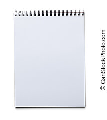 Drawing Pad - Blank Spiral Art Pad Isolated on White...