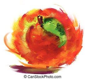 drawing peach
