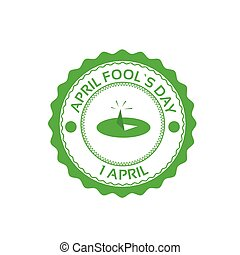 Drawing Pin First April Fool Day Happy Holiday Flat...