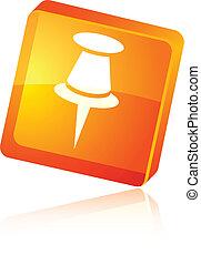 Drawing-pin icon. - Drawing-pin beautiful icon. Vector...