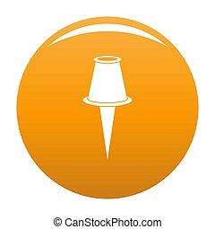 Drawing pin icon orange