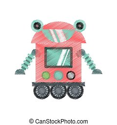 drawing robot cyborg machine futuristic