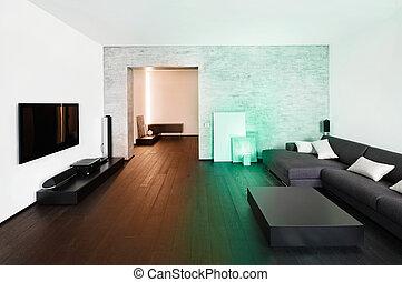 drawing-room, style, intérieur, moderne, minimalisme