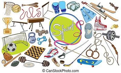 Drawing Sports Elements Set