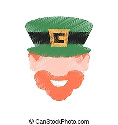 drawing st patricks day face leprechaun traditional