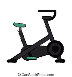 drawing stationary bicycle machine gym sport
