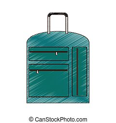 drawing suitcase travel equipment