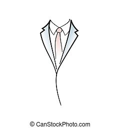 Drawing symbol aof man elegant suit.