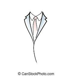 Drawing symbol aof man elegant suit.