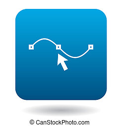 Drawing the curve icon in simple style