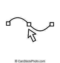 Drawing the curve icon, outline style