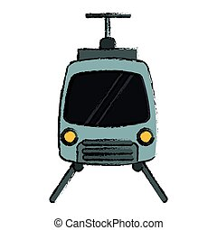 drawing tram travel public transport urban