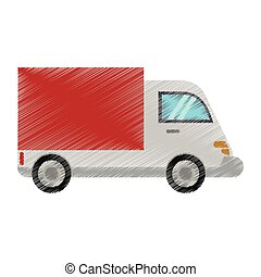 drawing truck delivery transport image