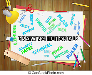 Drawing Tutorials Shows Education Studying And Learning