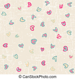Drawing valentine background