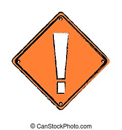 drawing warning alert attention sign icon