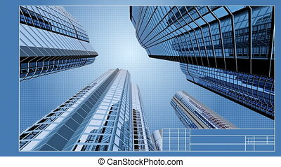 Drawings of skyscrapers