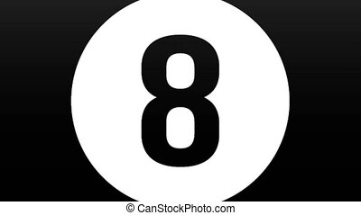 drawn billiard ball at number eight flies directly to the ...