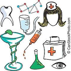 Drawn colored nurse