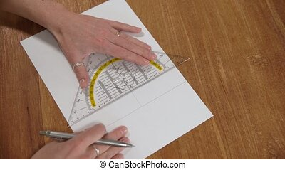 drawn on white paper pencil images and drawings with a ruler...