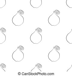 Quince. Seamless Vector Patterns - Drawn Quince. Seamless ...