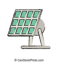 drawn solar panel renewable energy alternative