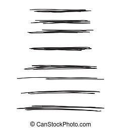 drawn., vektor, dát, rukopis