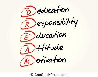 DREAM acronym, business concept background