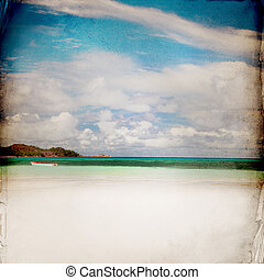 Dream Beach Grunge Background