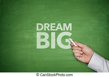 Dream big on blackboard