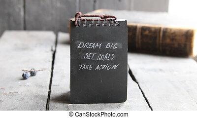 Dream Big Set Goals Take Action, Business motivation. -...