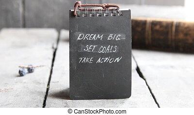 Dream Big Set Goals Take Action, Inspirational Business...