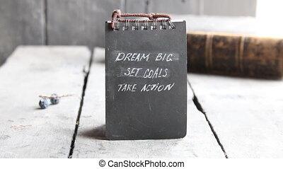Dream Big Set Goals Take Action, Inspirational motivation...