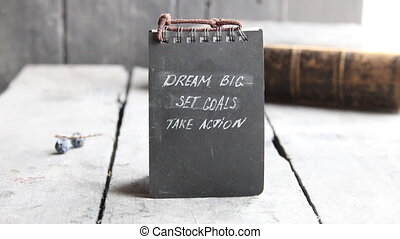 Dream Big Set Goals Take Action, Inspirational motivation quote