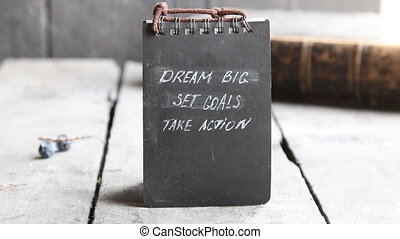 Dream Big Set Goals Take Action, Inspirational Business quote