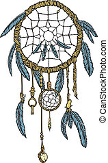 Dream Catcher - A highly detailed native American dream...