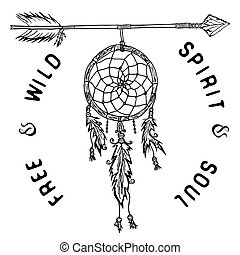 Dream catcher and arrow