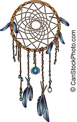 Dream Catcher - A native American dream catcher.