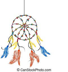 Dream catcher, isolated object over white background