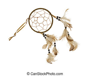 Dream catcher with feathers - A dream catcher with feathers...
