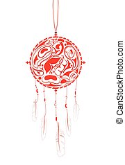 Dream Catcher with indigenous pattern and ornament