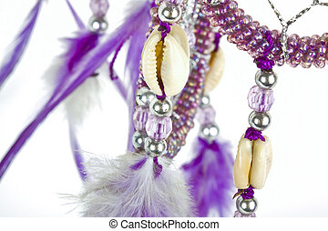 Dream catcher with shiny beads - Indian native american ...