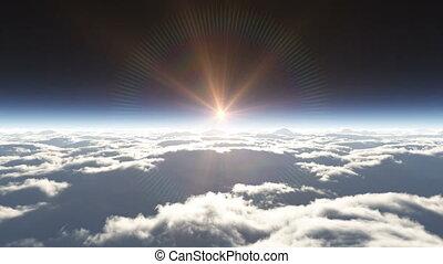 dream fly in clouds 4k