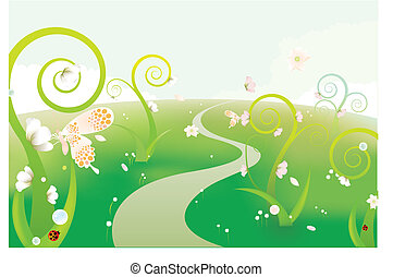 the dreamlike gren garden background